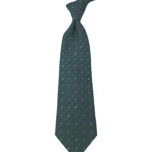 Ermenegildo Zegna Gray Dot Print Wool Silk Tie